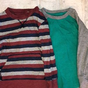 Lot of 2 Toddler Boy Long Sleeve Shirts